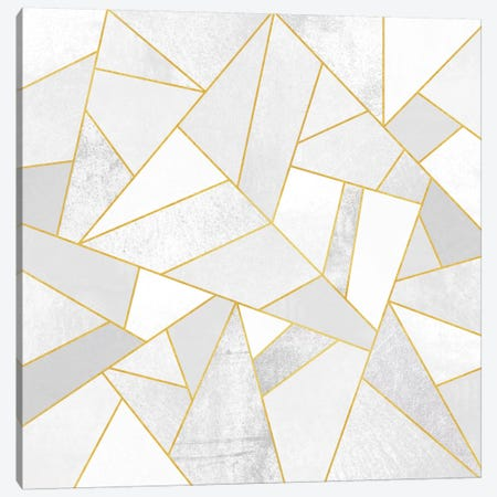 White Stone Canvas Print #ELF118} by Elisabeth Fredriksson Art Print