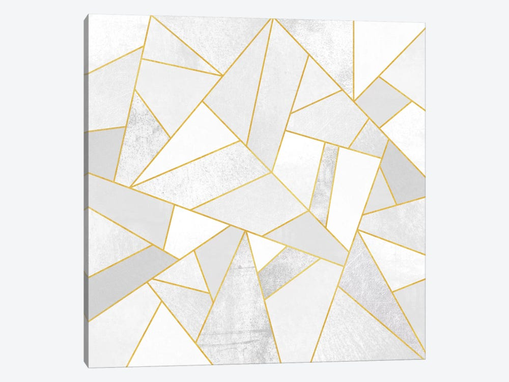 White Stone by Elisabeth Fredriksson 1-piece Canvas Print