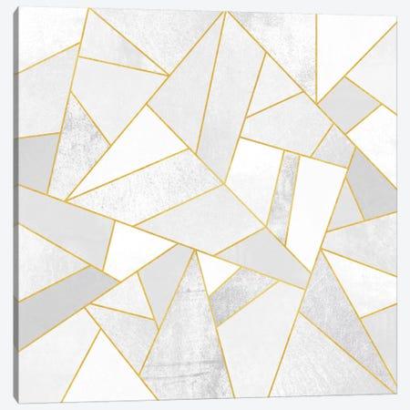 White Stone Canvas Print #ELF118} by Elisabeth Fredriksson Art Print