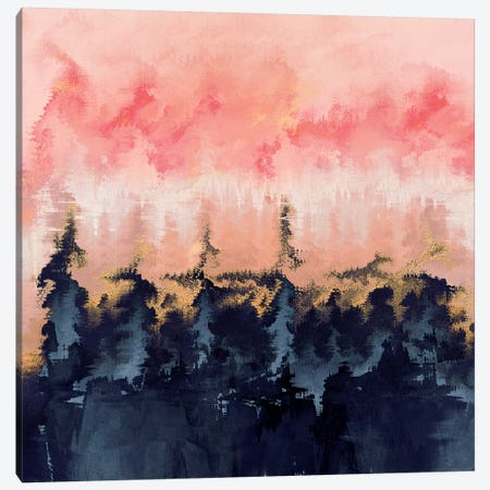 Abstract Wilderness Canvas Print #ELF120} by Elisabeth Fredriksson Canvas Artwork