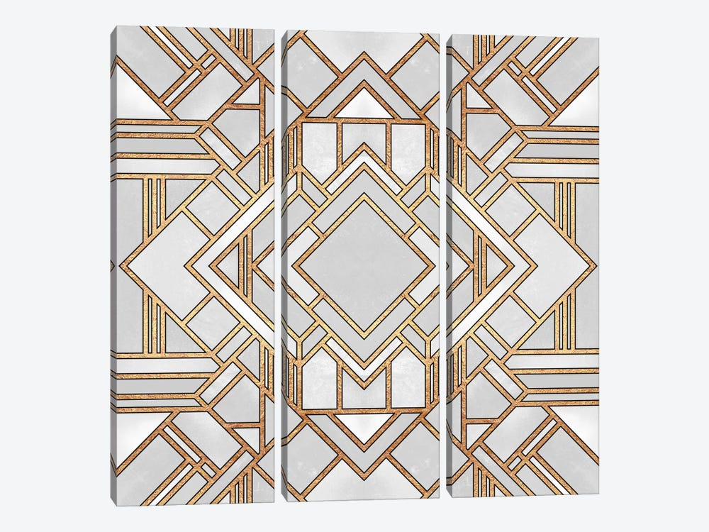 Art Deco I by Elisabeth Fredriksson 3-piece Canvas Wall Art