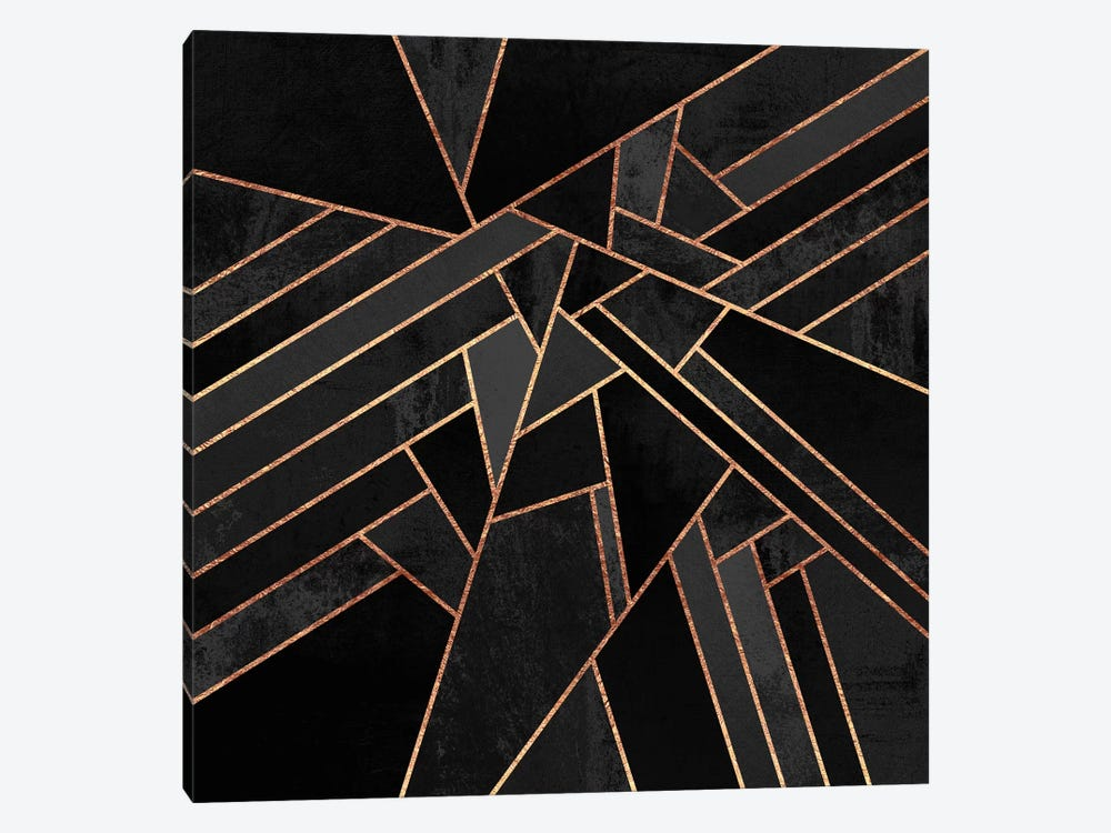Black Night by Elisabeth Fredriksson 1-piece Canvas Artwork