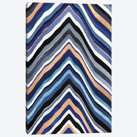 Blue Slice Canvas Print #ELF130} by Elisabeth Fredriksson Canvas Print