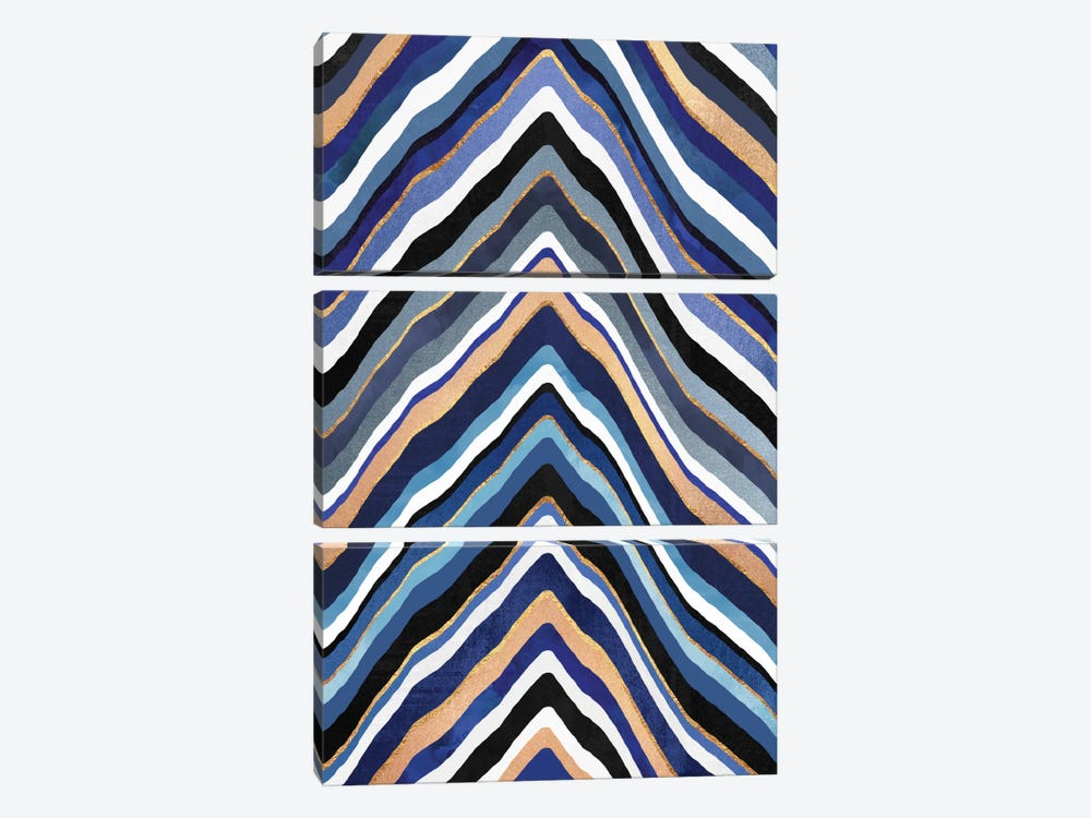 Blue Slice by Elisabeth Fredriksson 3-piece Art Print