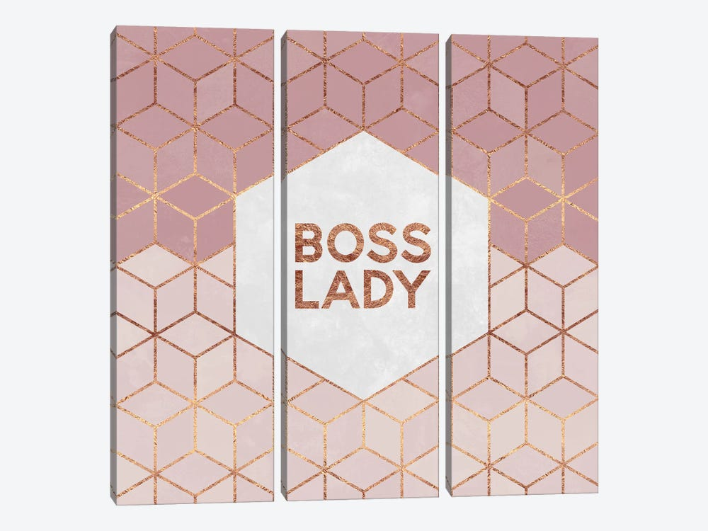 Boss Lady by Elisabeth Fredriksson 3-piece Canvas Artwork