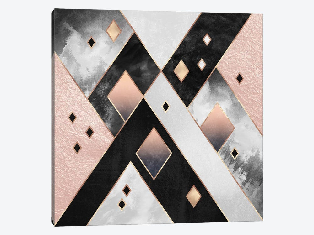 Diamonds I by Elisabeth Fredriksson 1-piece Canvas Art Print