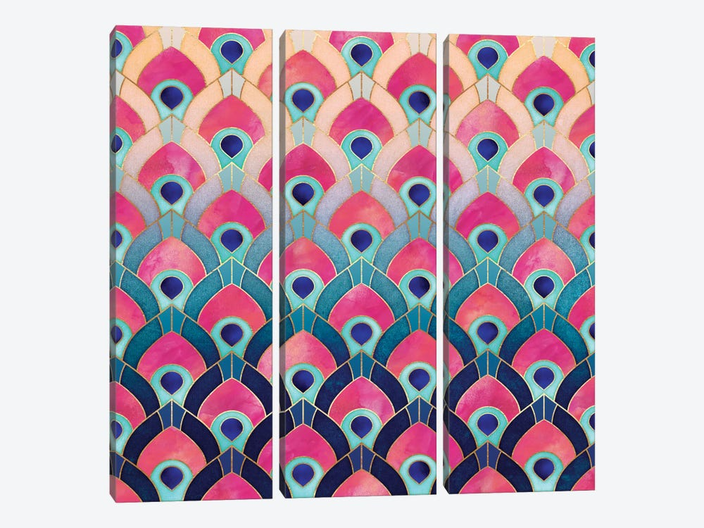 Feathered I by Elisabeth Fredriksson 3-piece Canvas Artwork