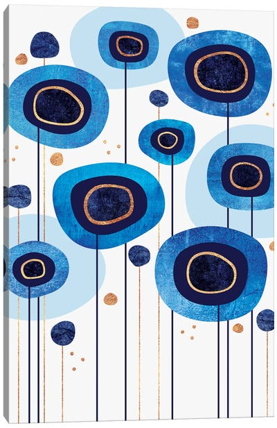 Floral Blues Canvas Art Print