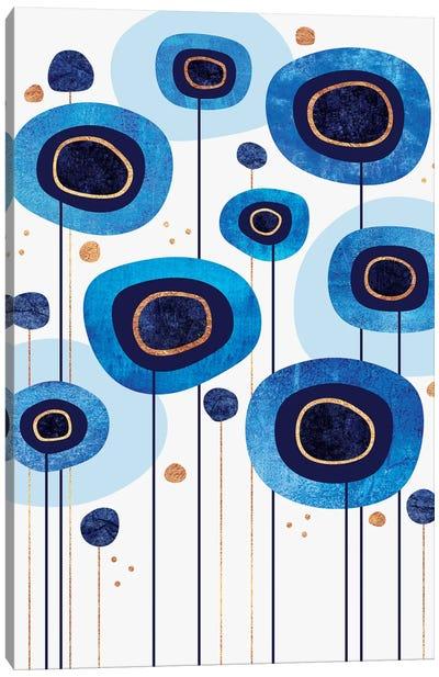 Floral Blues Canvas Art Print