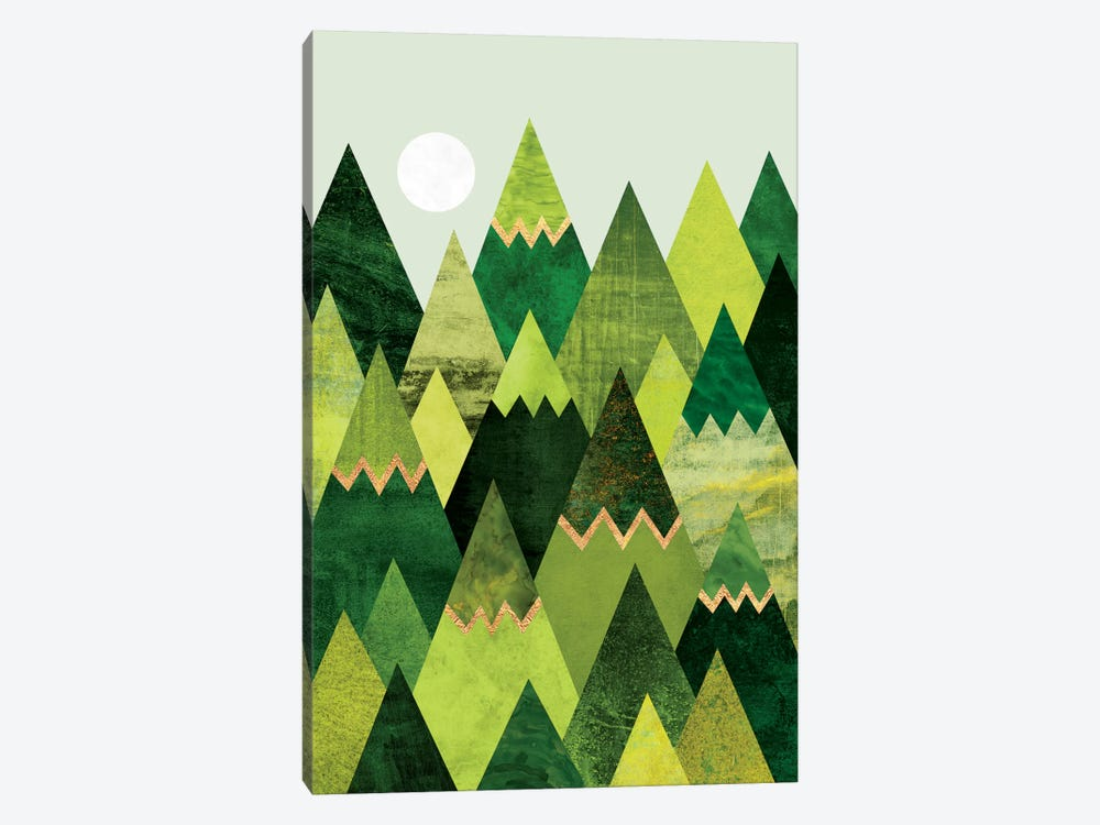 Forest Mountains by Elisabeth Fredriksson 1-piece Canvas Wall Art