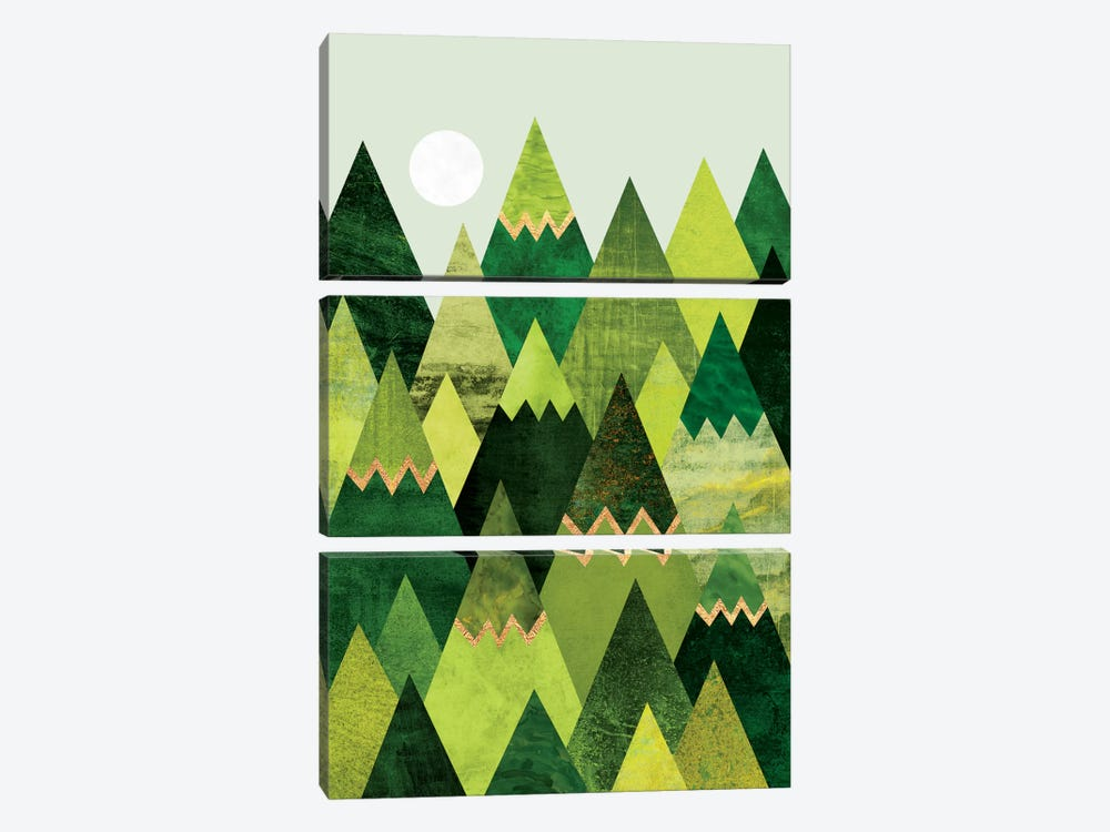 Forest Mountains by Elisabeth Fredriksson 3-piece Canvas Artwork