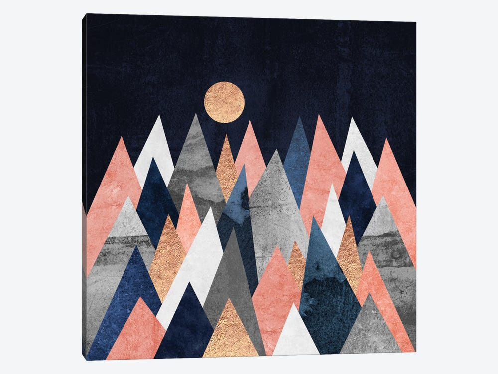 Gold Moon by Elisabeth Fredriksson 1-piece Canvas Print