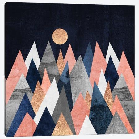 Gold Moon 3-Piece Canvas #ELF138} by Elisabeth Fredriksson Canvas Art Print