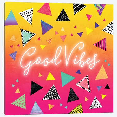 Good Vibes Canvas Print #ELF139} by Elisabeth Fredriksson Canvas Art Print