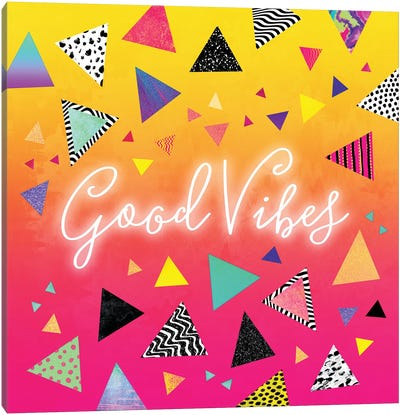 Good Vibes Canvas Print #ELF139