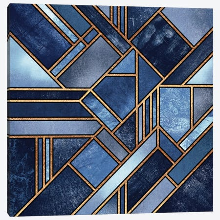Blue City Canvas Print #ELF13} by Elisabeth Fredriksson Canvas Artwork