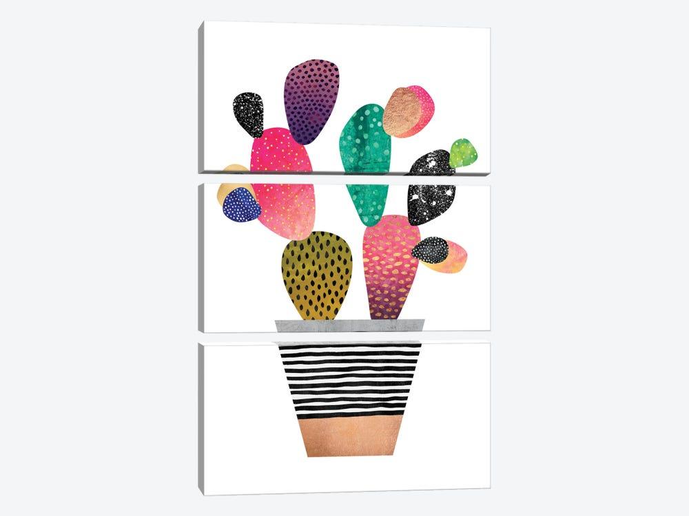 Happy Cactus by Elisabeth Fredriksson 3-piece Canvas Wall Art
