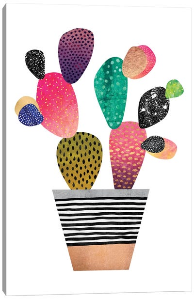 Happy Cactus Canvas Art Print