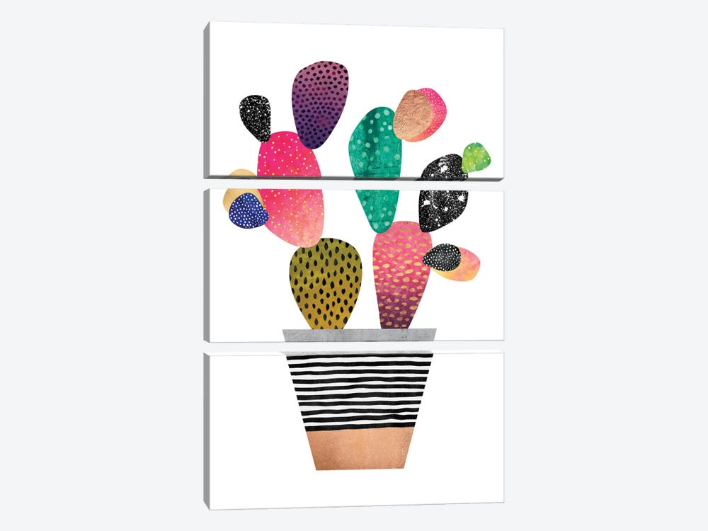 Happy Cactus by Elisabeth Fredriksson 3-piece Canvas Wall Art