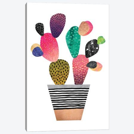 Happy Cactus Canvas Print #ELF142} by Elisabeth Fredriksson Canvas Art