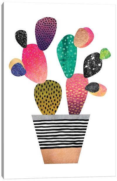 Happy Cactus Canvas Art Print
