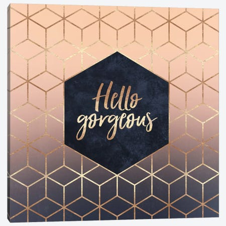 Hello Gorgeous Canvas Print #ELF143} by Elisabeth Fredriksson Canvas Artwork