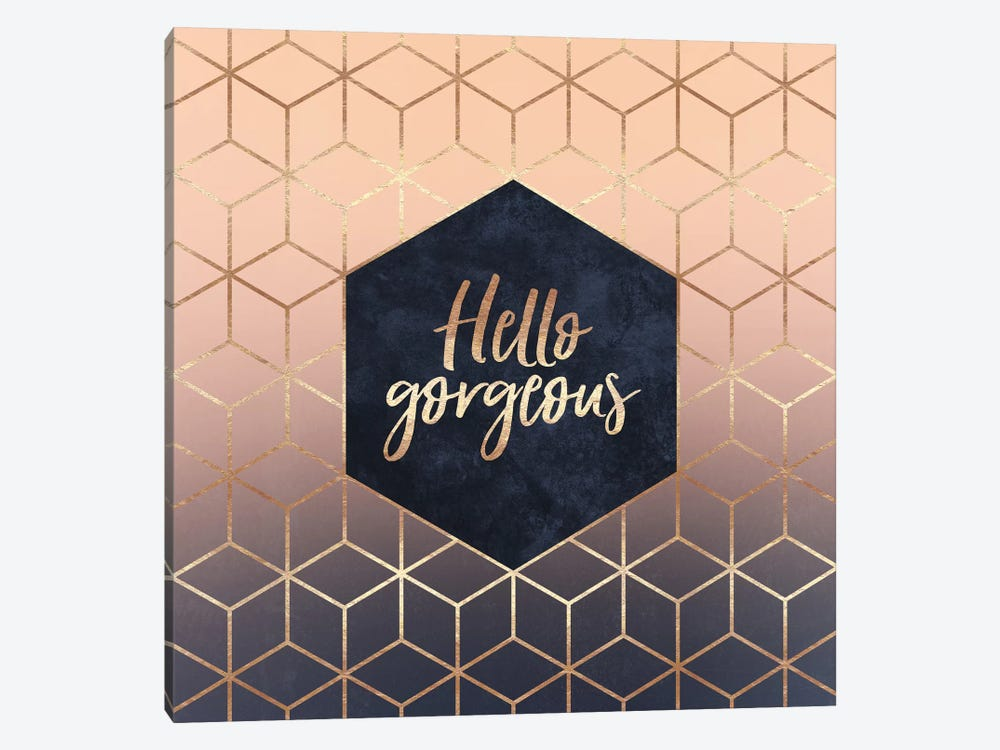Hello Gorgeous by Elisabeth Fredriksson 1-piece Canvas Art Print