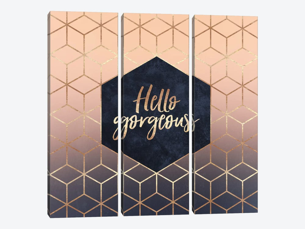 Hello Gorgeous by Elisabeth Fredriksson 3-piece Art Print