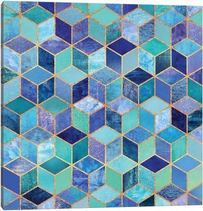 Blue Cubes Canvas Art Print