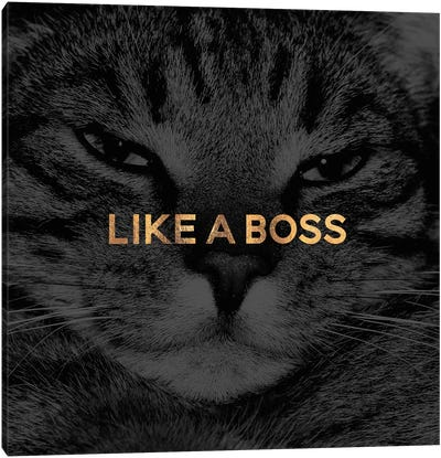 Like A Boss Canvas Art Print