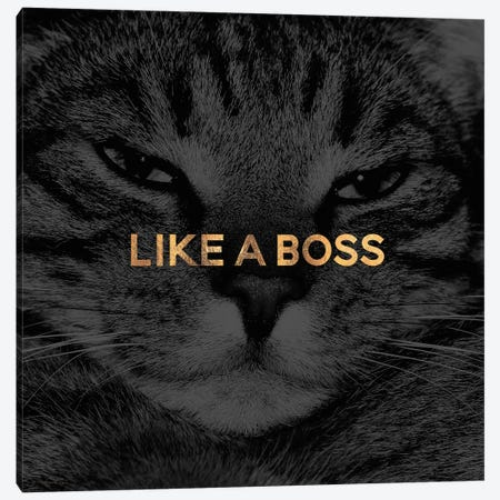 Like A Boss Canvas Print #ELF151} by Elisabeth Fredriksson Canvas Art Print