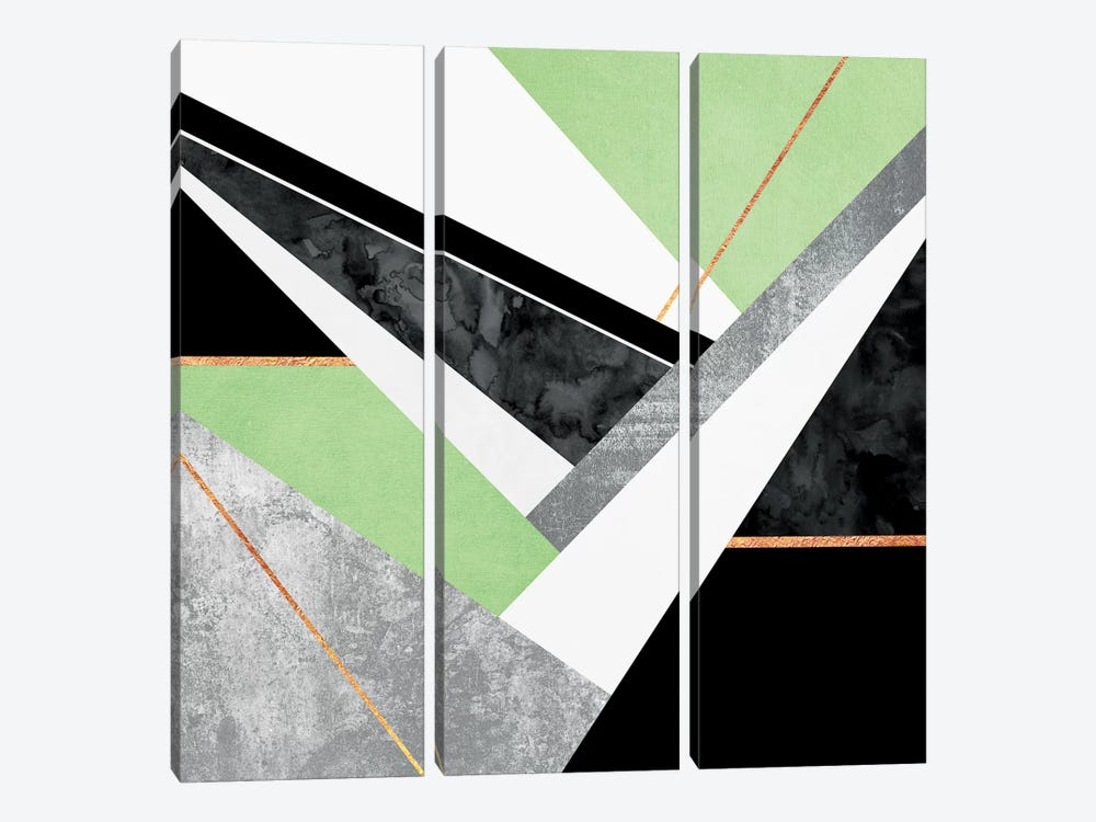 Lines And Layers II by Elisabeth Fredriksson 3-piece Canvas Print