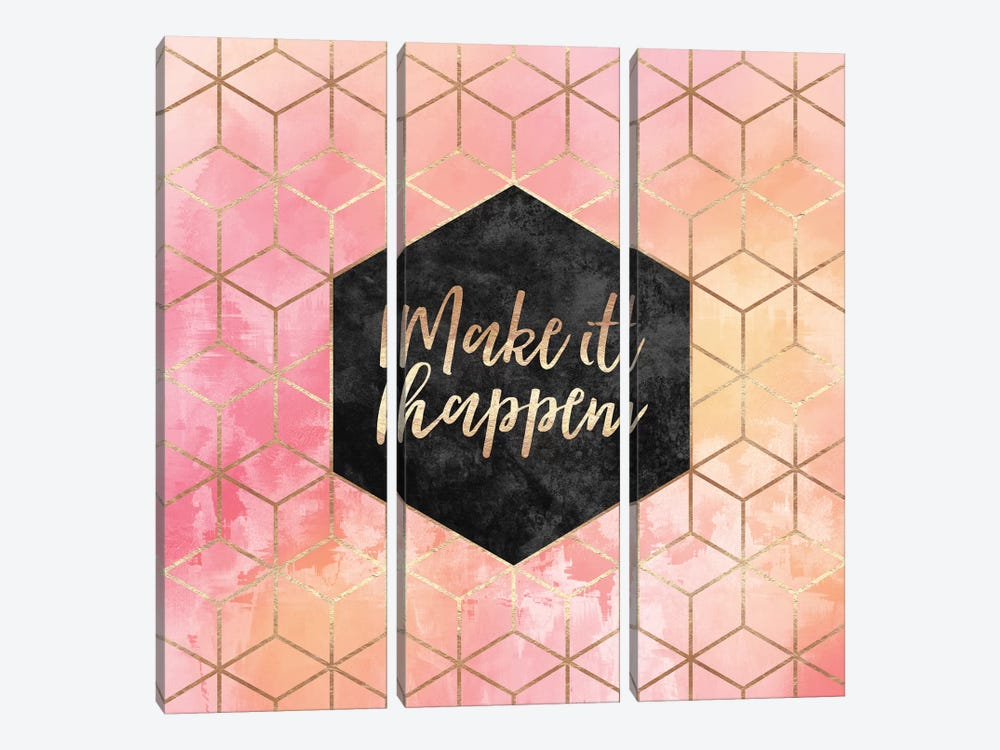 Make It Happen by Elisabeth Fredriksson 3-piece Canvas Art Print