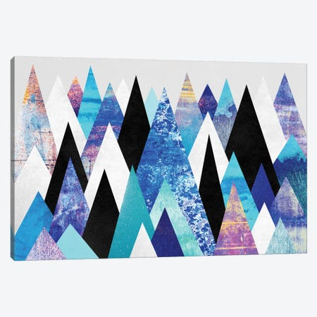 Blue Peaks Canvas Print #ELF15} by Elisabeth Fredriksson Canvas Print