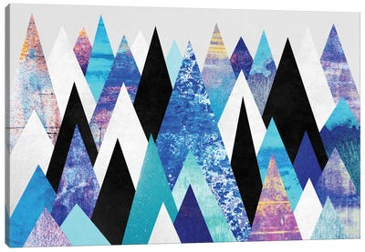 Blue Peaks Canvas Print #ELF15