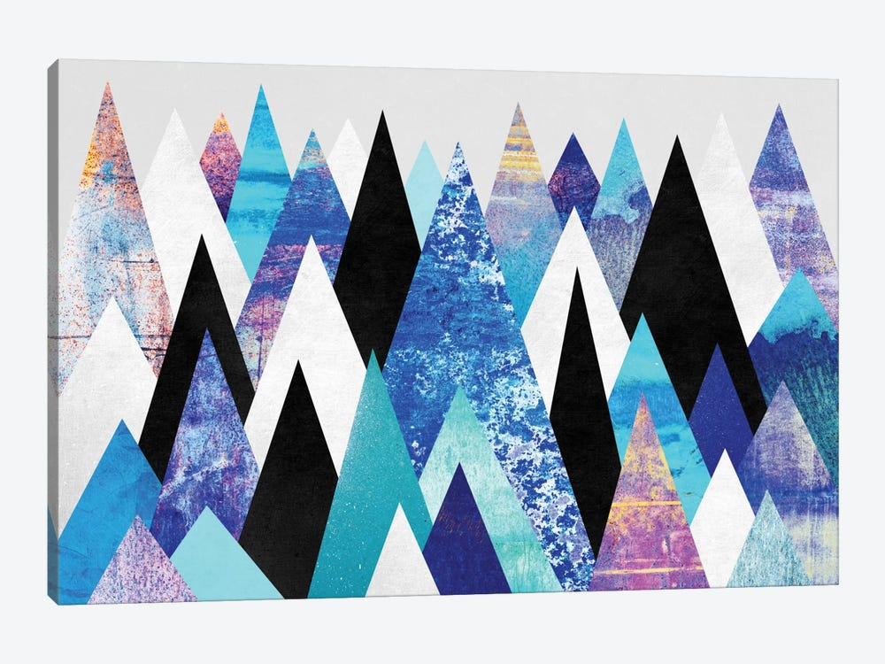 Blue Peaks by Elisabeth Fredriksson 1-piece Canvas Art Print