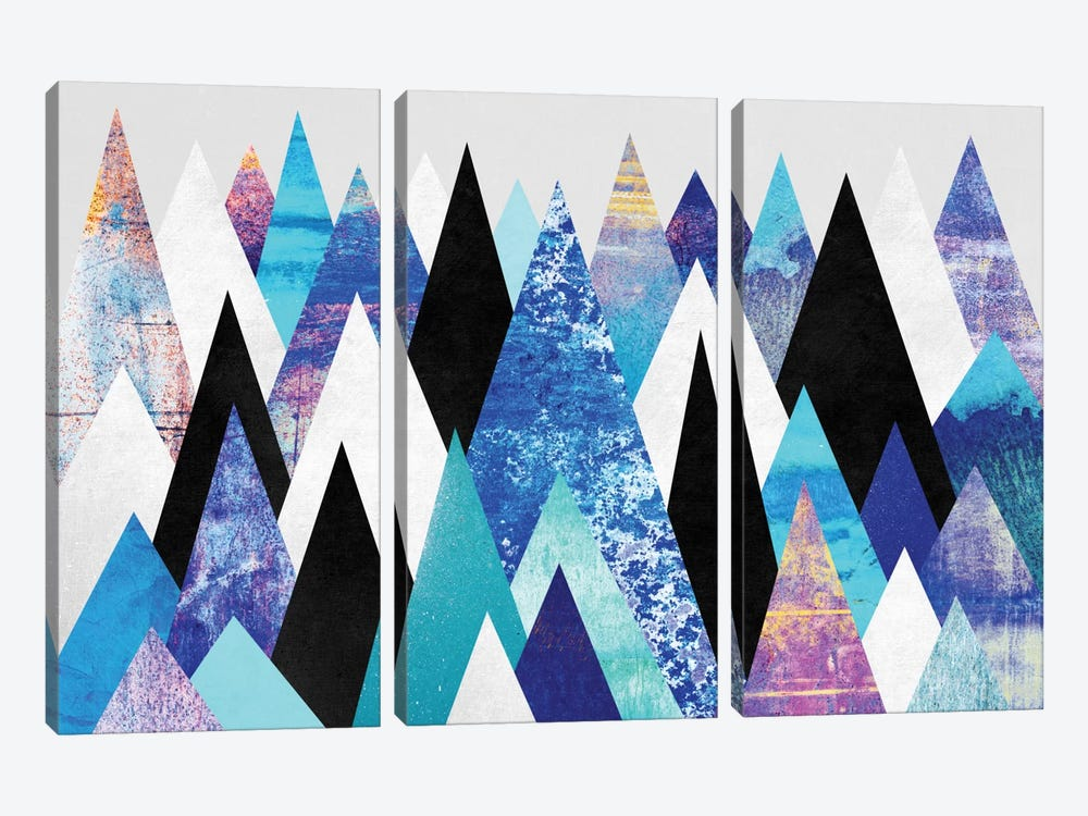Blue Peaks by Elisabeth Fredriksson 3-piece Art Print