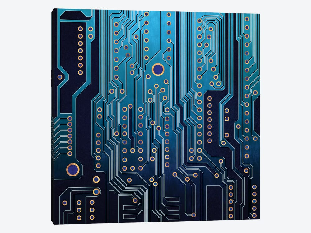 PCB V by Elisabeth Fredriksson 1-piece Canvas Wall Art
