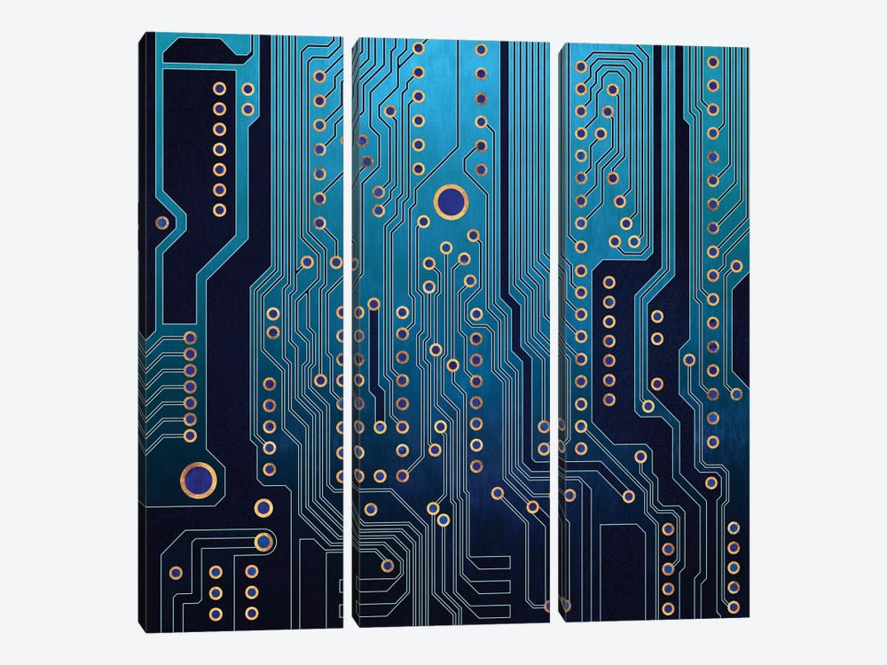 PCB V by Elisabeth Fredriksson 3-piece Canvas Art