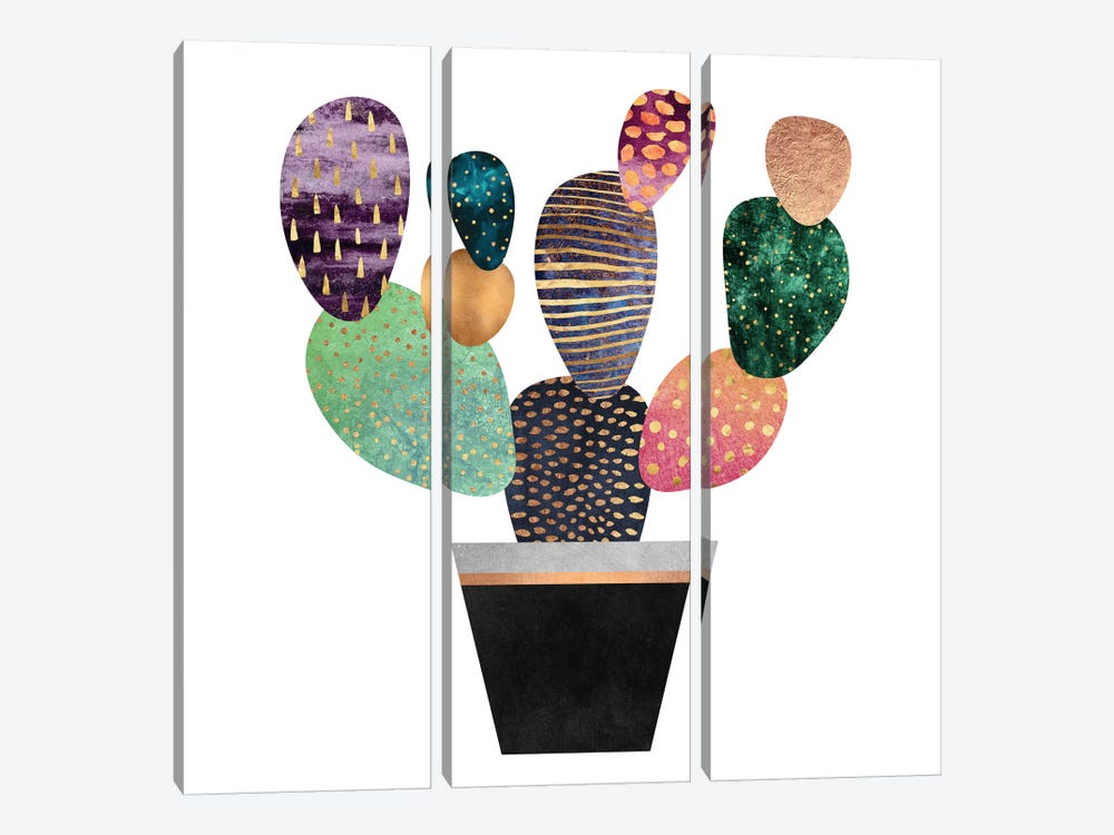 Pretty Cactus 3-piece Art Print