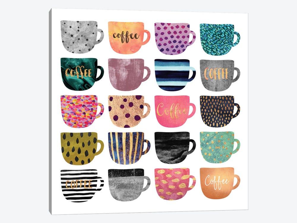 Pretty Coffee Cups by Elisabeth Fredriksson 1-piece Canvas Artwork