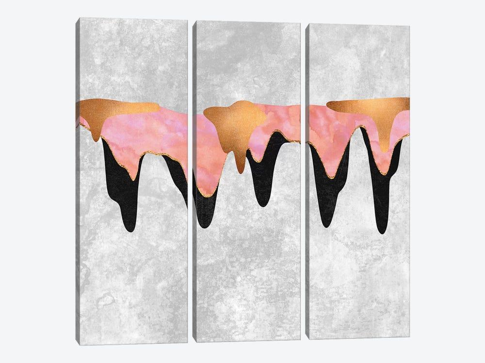 Pretty Color Drip I by Elisabeth Fredriksson 3-piece Canvas Print