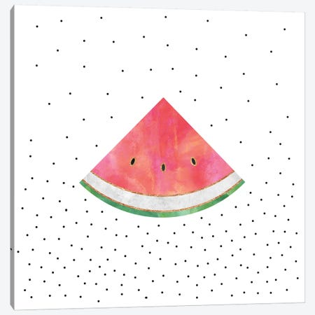 Pretty Watermelon Canvas Print #ELF169} by Elisabeth Fredriksson Canvas Artwork