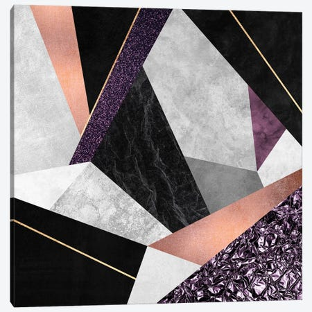 Purple Geo Canvas Print #ELF170} by Elisabeth Fredriksson Art Print
