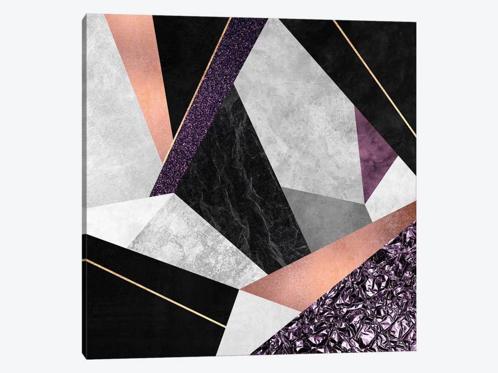 Purple Geo by Elisabeth Fredriksson 1-piece Canvas Art Print