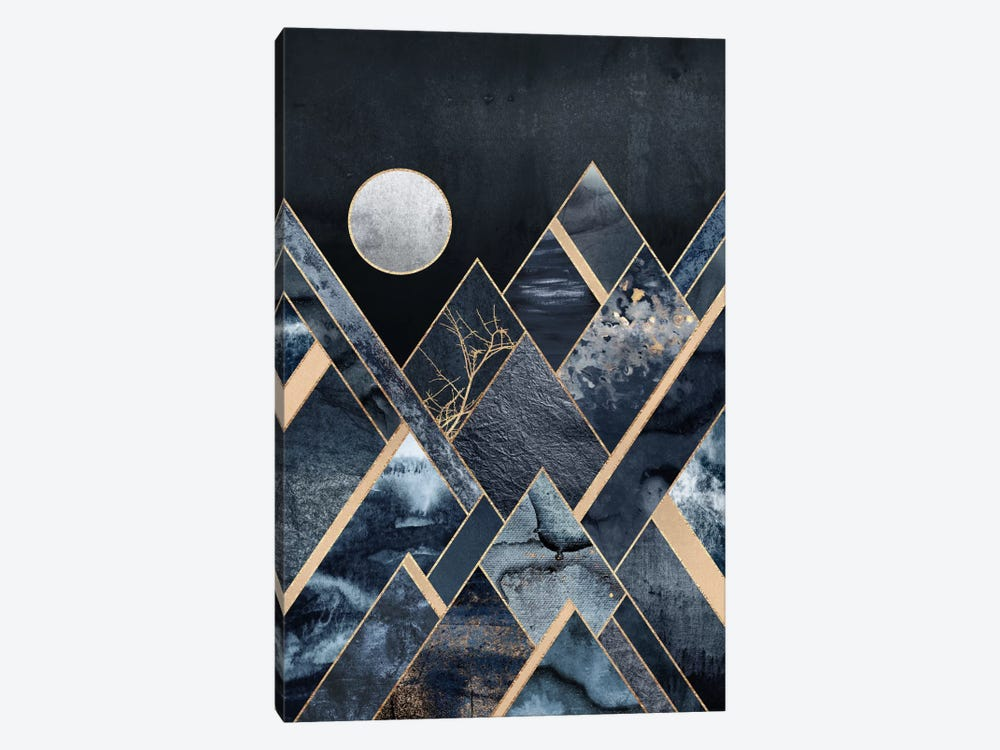 Stormy Mountains by Elisabeth Fredriksson 1-piece Canvas Art