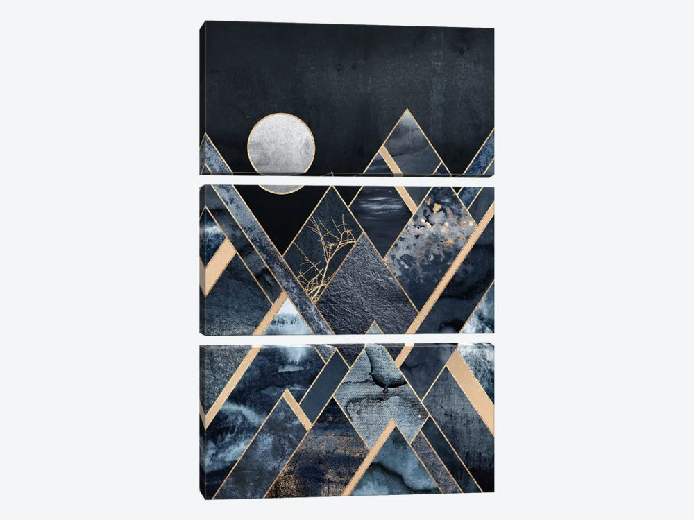 Stormy Mountains by Elisabeth Fredriksson 3-piece Canvas Artwork