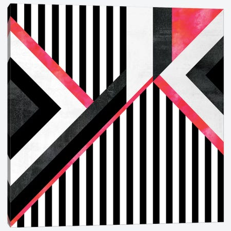 Stripe Combination (Pink) Canvas Print #ELF176} by Elisabeth Fredriksson Canvas Wall Art