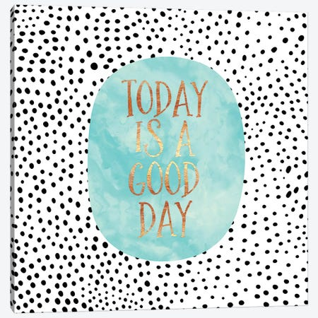 Today Is A Good Day 3-Piece Canvas #ELF178} by Elisabeth Fredriksson Canvas Print