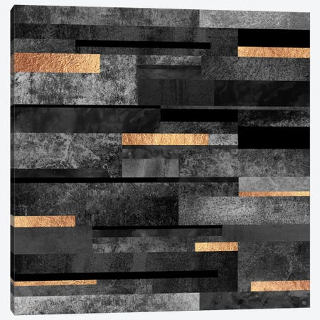 Urban Black And Gold Canvas Print #ELF179} by Elisabeth Fredriksson Art Print